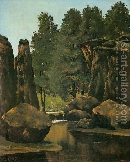 Landscape by Gustave Courbet - Reproduction Oil Painting