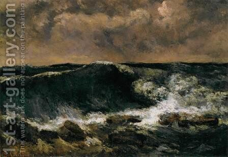 The Wave 5 by Gustave Courbet - Reproduction Oil Painting