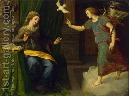 Annunciation by Michiel Van Coxcie - Reproduction Oil Painting