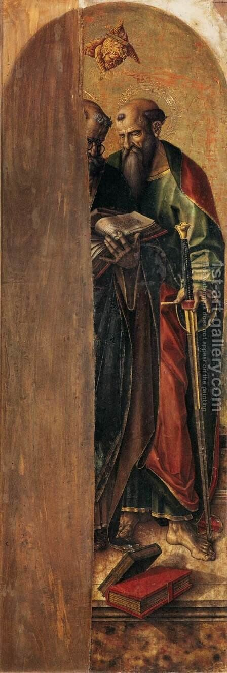 St Peter and St Paul by Carlo Crivelli - Reproduction Oil Painting