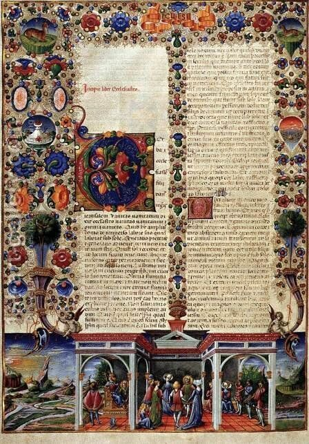 Bible of Borso d'Este by Taddeo Crivelli - Reproduction Oil Painting