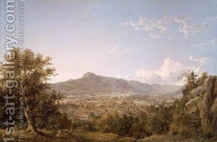 Schatacook Mountain, Housatonic Valley, Connecticut by Jasper Francis Cropsey - Reproduction Oil Painting