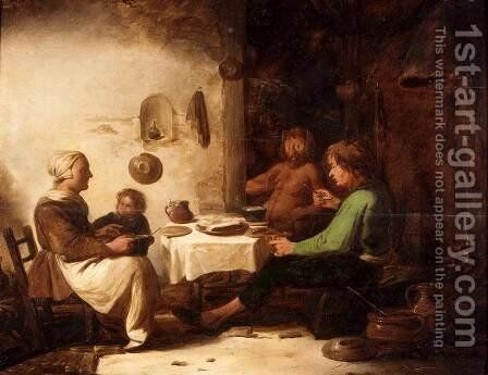 The Satyr and the Peasant Family 3 by Benjamin Gerritsz. Cuyp - Reproduction Oil Painting