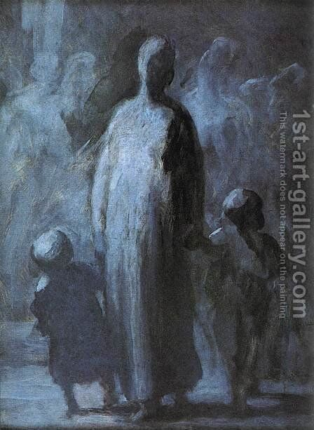 Mother by Honoré Daumier - Reproduction Oil Painting