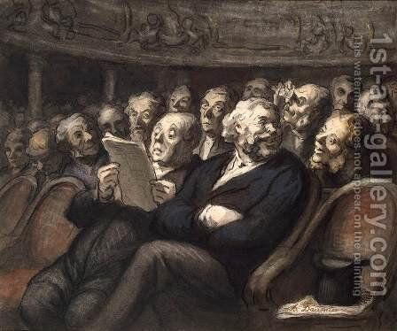 Intermission at the Comedie Francaise by Honoré Daumier - Reproduction Oil Painting