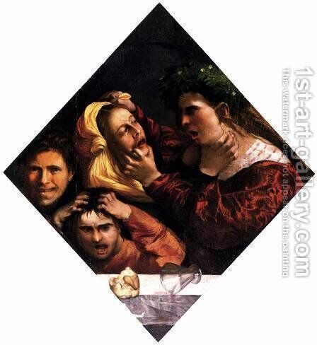 Anger or the Tussle by Dosso Dossi (Giovanni di Niccolo Luteri) - Reproduction Oil Painting