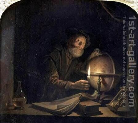 Astronomer by Gerrit Dou - Reproduction Oil Painting