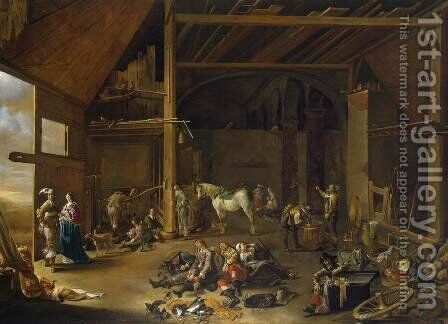 Soldier's Rest by Jacob Duck - Reproduction Oil Painting