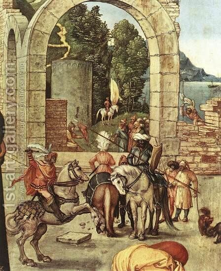 Adoration of the Magi (detail) 3 by Albrecht Durer - Reproduction Oil Painting