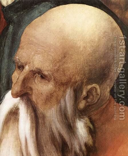 Christ Among the Doctors (detail) 2 by Albrecht Durer - Reproduction Oil Painting