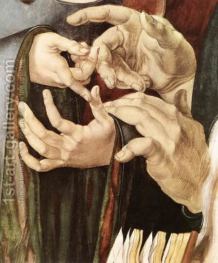 Christ Among the Doctors (detail) 3 by Albrecht Durer - Reproduction Oil Painting