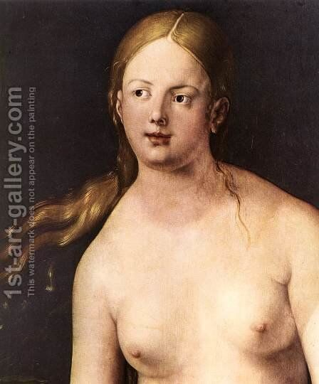 Eve (detail) 2 by Albrecht Durer - Reproduction Oil Painting