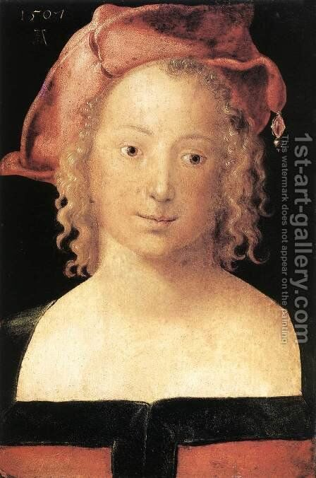 Portrait of a Young Girl 2 by Albrecht Durer - Reproduction Oil Painting
