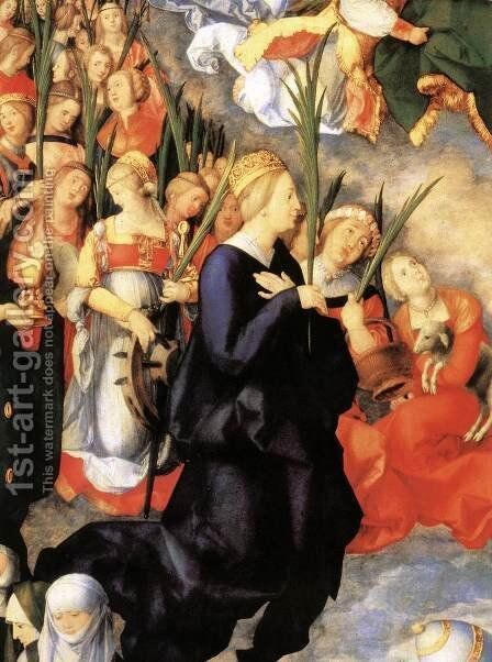 The Adoration of the Trinity (detail) by Albrecht Durer - Reproduction Oil Painting