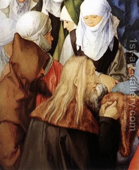 The Adoration of the Trinity (detail) 2 by Albrecht Durer - Reproduction Oil Painting