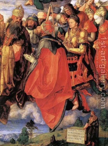 The Adoration of the Trinity (detail) 3 by Albrecht Durer - Reproduction Oil Painting