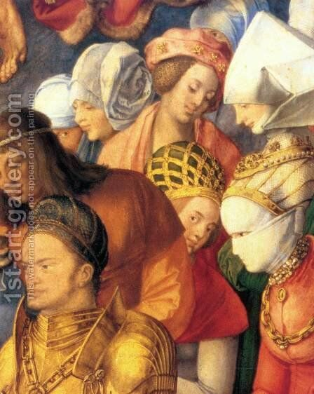 The Adoration of the Trinity (detail) 4 by Albrecht Durer - Reproduction Oil Painting