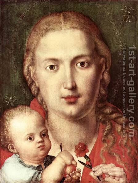 The Madonna of the Carnation 2 by Albrecht Durer - Reproduction Oil Painting