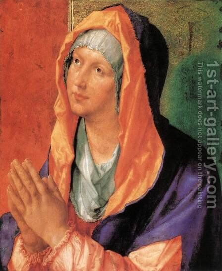 The Virgin Mary in Prayer 2 by Albrecht Durer - Reproduction Oil Painting