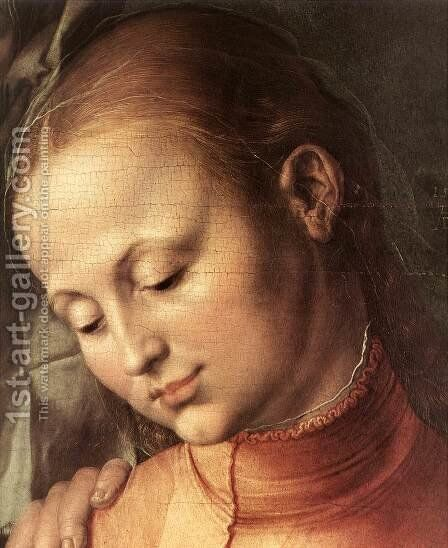 St Anne with the Virgin and Child (detail) 2 by Albrecht Durer - Reproduction Oil Painting
