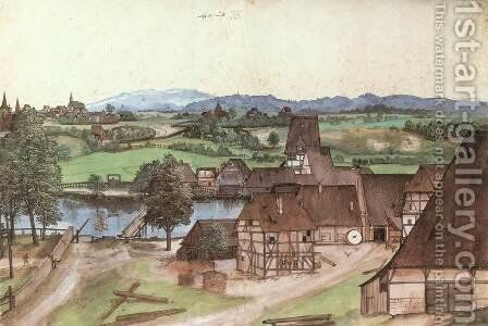 The Wire-drawing Mill by Albrecht Durer - Reproduction Oil Painting