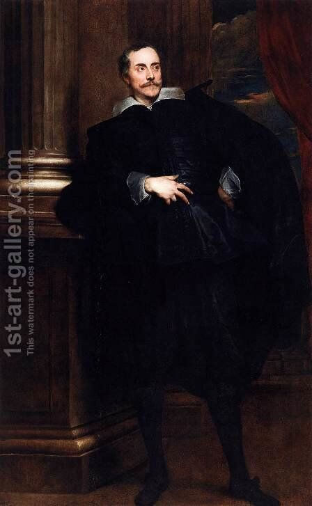 Portrait of Marcello Durazzo 2 by Sir Anthony Van Dyck - Reproduction Oil Painting