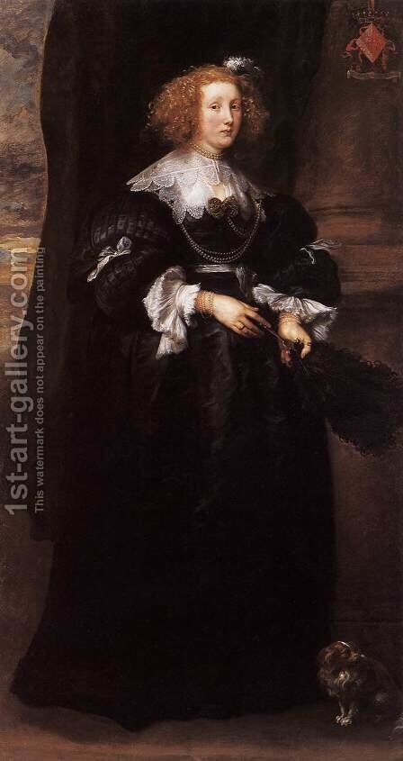 Marie de Raet by Sir Anthony Van Dyck - Reproduction Oil Painting