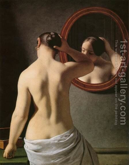 Morning Toilette by Christoffer Wilhelm Eckersberg - Reproduction Oil Painting