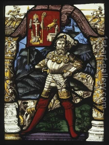 Stained-Glass Panel by Carl von Egeri - Reproduction Oil Painting