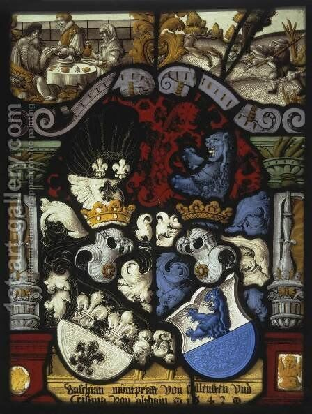 Stained-Glass Panel 2 by Carl von Egeri - Reproduction Oil Painting