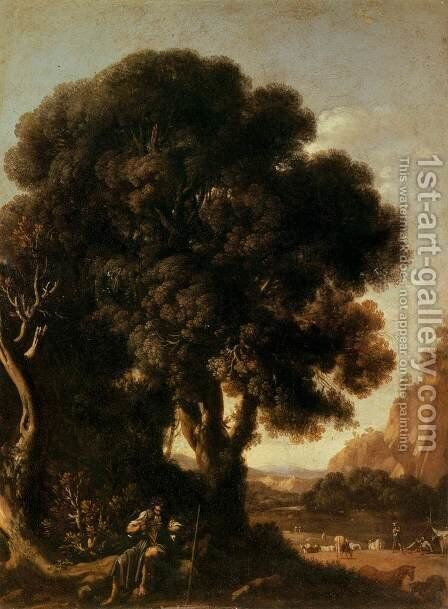 Apollo and the Cattle of Admetus by Adam Elsheimer - Reproduction Oil Painting