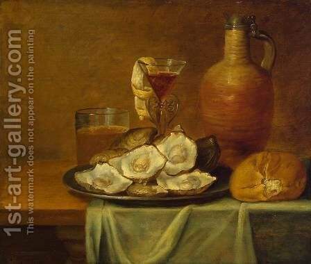 Breakfast with Oysters by Jacob van Es - Reproduction Oil Painting
