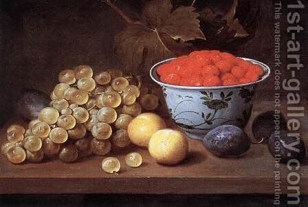Still-Life with Fruit by Jacob van Es - Reproduction Oil Painting