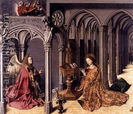 Annunciation by Barthelemy d' Eyck - Reproduction Oil Painting