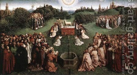 The Ghent Altarpiece Adoration of the Lamb by Jan Van Eyck - Reproduction Oil Painting