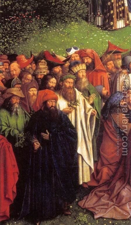 The Ghent Altarpiece Adoration of the Lamb (detail) 2 by Jan Van Eyck - Reproduction Oil Painting