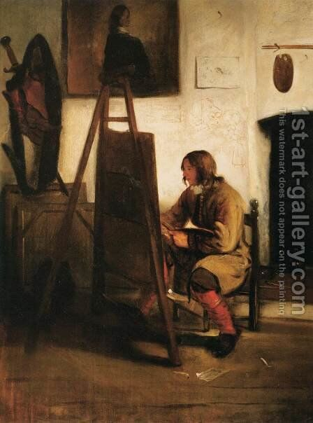 Young Painter in his Studio by Barent Fabritius - Reproduction Oil Painting