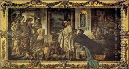 Platonic Banquet by Anselm Friedrich Feuerbach - Reproduction Oil Painting