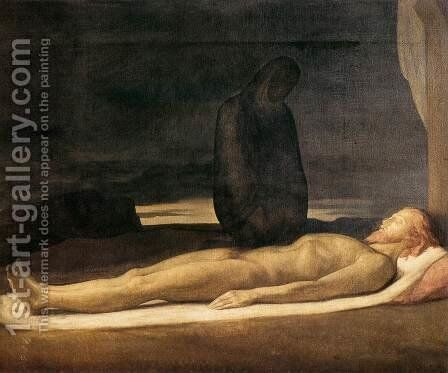 Pieta by Jean Hippolyte Flandrin - Reproduction Oil Painting