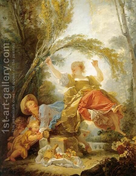 The Swing 3 by Jean-Honore Fragonard - Reproduction Oil Painting