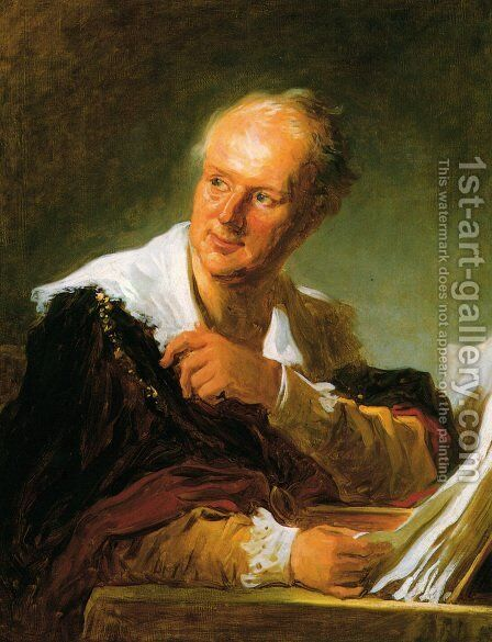 Denis Diderot (Fanciful Figure) by Jean-Honore Fragonard - Reproduction Oil Painting