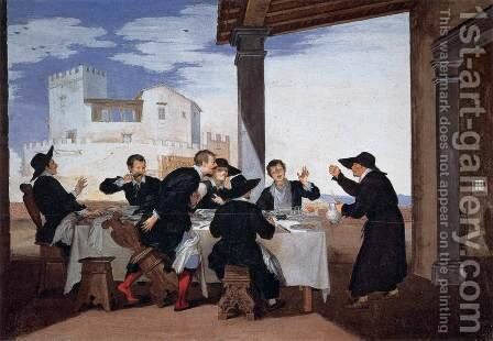 One of Father Arlotto's Tricks by Baldassarre Franceschini - Reproduction Oil Painting