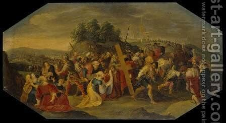 Carrying the Cross by Hieronymous III Francken - Reproduction Oil Painting