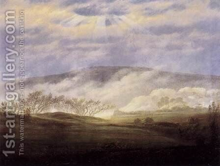 Fog in the Elbe Valley 2 by Caspar David Friedrich - Reproduction Oil Painting