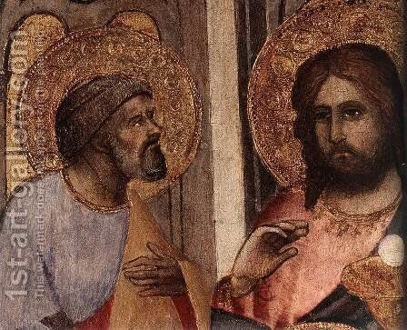 The Last Supper (detail) by Agnolo Gaddi - Reproduction Oil Painting