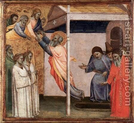 Assumption of St John the Evangelist by Taddeo Gaddi - Reproduction Oil Painting