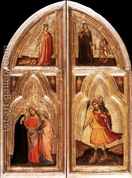 Triptych (exterior) by Taddeo Gaddi - Reproduction Oil Painting