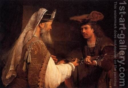 Ahimelech Giving the Sword of Goliath to David by Aert De Gelder - Reproduction Oil Painting