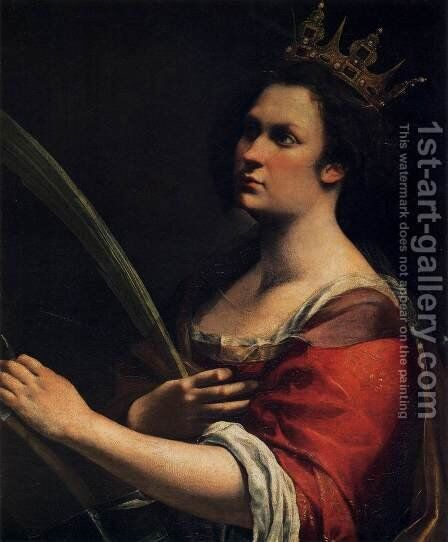 St Catherine of Alexandria by Artemisia Gentileschi - Reproduction Oil Painting