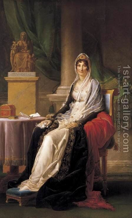 Portrait of Madame Mere 2 by Baron Francois Gerard - Reproduction Oil Painting